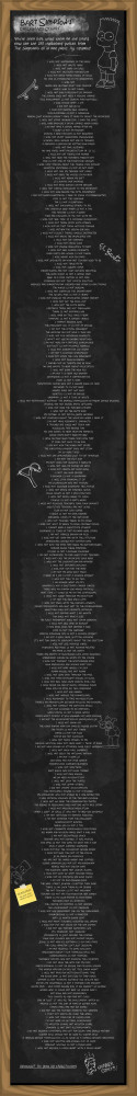 All Bart Simpson Chalkboard Quotes - Unfinished Man | We Heart It