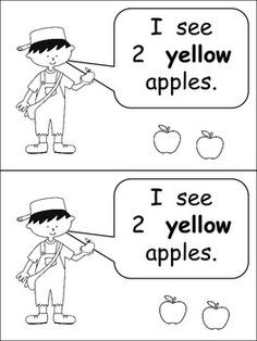 Johnny Appleseed Emergent Reader for Kindergarten- Counting and Colors