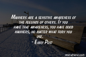 Bad Manners Quotes