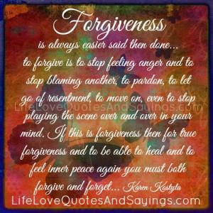 Forgiveness Is Always Easier..