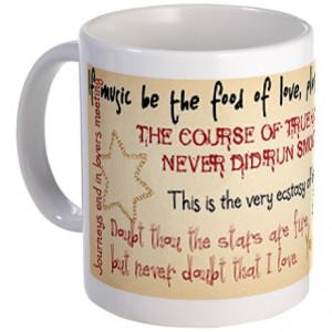Heart Gifts > Heart Mugs > Shakespeare Love Quotes Mug
