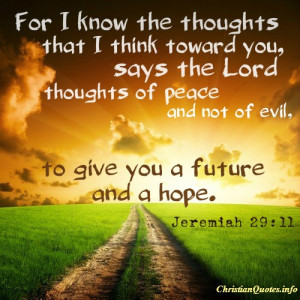 Jeremiah 29:11 Quote – Scripture