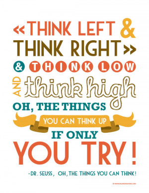 Back to School- Dr. Seuss Quote Printable