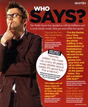 David Tennant Sayings
