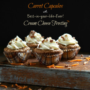 Carrot Cupcakes with Cream Cheese Frosting-fill your home with the ...