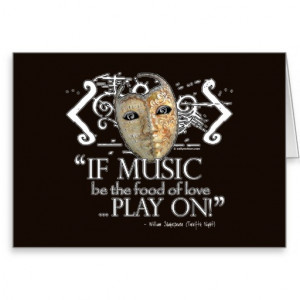 Twelfth Night Music Quote Greeting Cards