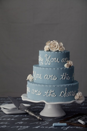PHOTOS: Wedding Cakes Personalized With Monograms, Quotes and Poems