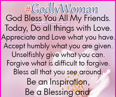 Godly Woman is an inspiration, a blessing and a light to all | Godly ...