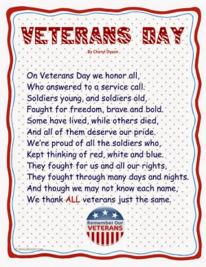 Veterans Day Religious Poems, Inspirational Poetry