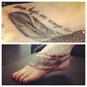 Collection of Eagle Feather Tattoos