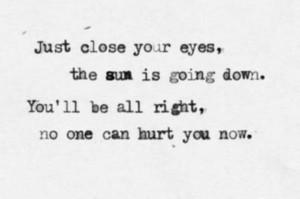Safe and Sound, Taylor Swift lyrics