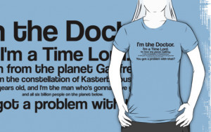 ... › Portfolio › I'm the Doctor / Doctor Who quote series #1