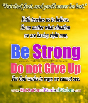 Do not give up!!
