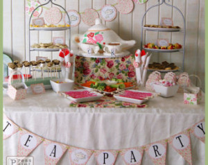 Tea Party Printables - DIY Party Su pplies and Decorations - Complete ...