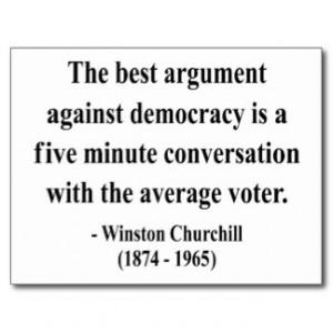 Winston Churchill Quote 10a Postcard