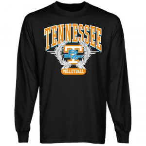 Tennessee Lady Vols Black Laurels Volleyball Long Sleeve T-shirt
