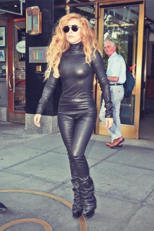 Liz Hurley Leather Catsuit