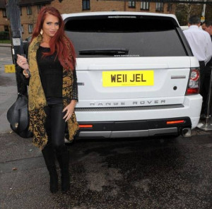 Amy Child's licence plate Range Rover