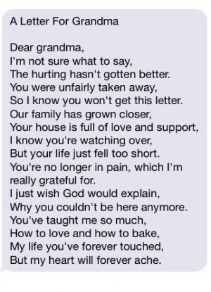 ... poems about death of a grandmother poems about death of a grandmother