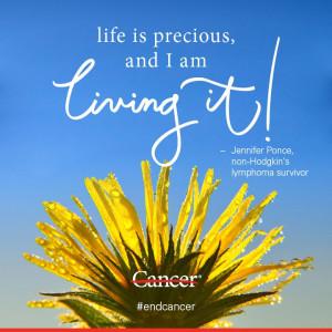 -Hodgkin's lymphoma survivor Jennifer Ponce isn't sad she had cancer ...