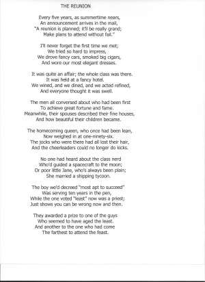 Family Reunion Poems I found this little poem that