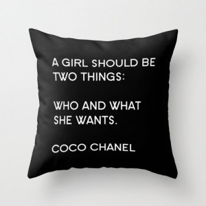 ... Quotes - Typography - A Girl Should Be Two Things - Fashion Pillow