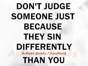 Don't judge someone just because...