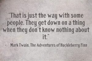 huckleberry finns moral compass Mark twain's the adventures of huckleberry finn has been hailed as a   revealing the unshakeable hold that the southern moral code continues to have  over.