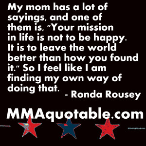 Ronda Rousey's mom on Making the World Better