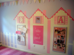 ... Quotes Sister Wall Murals Stickers for Pink Teenage Girls Bedroom