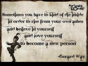 Gerard way quote by shadowwolf35