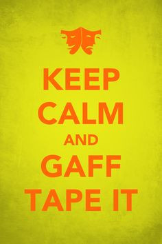 Gaff tape fixes EVERYTHING! #TheatreTechie #techie #TechieLife More