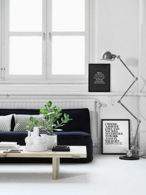 black and white framed quotes