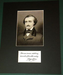 EDGAR-ALLAN-POE-MATTED-QUOTE-REPRINT-SIGNED-PHOTO-DISPLAY-READY-TO ...
