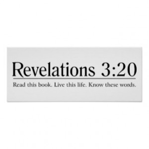 Read the Bible Revelations 3:20 Posters