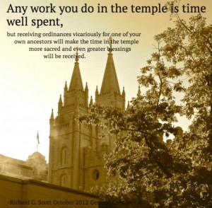 Quote: Elder Richard G. Scott, General Conference October 2012