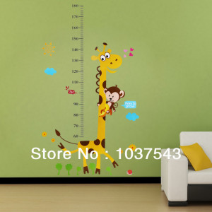 Giraffe Quotes For Kids Giraffe monkey removable vinyl wall decal ...