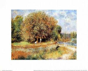 Pierre Auguste Renoir Bluehender Kastanienbaum Poster Kunstdruck