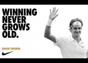 """... to clinch his 7th Wimbledon. Nike says """"Congrats"""", simply"""