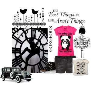 Panda, created by likepaperdolls on Polyvore