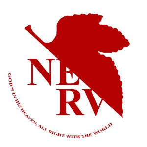 nerv logo anime god neon Quote...