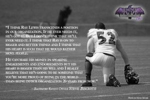 to ray lewis within the organization upon ray s retirement