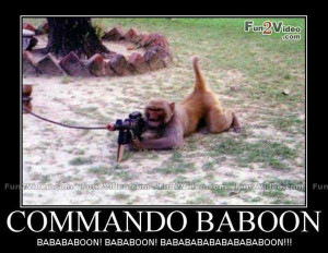 of funny monkey commando which is very humorous and this funny monkey ...