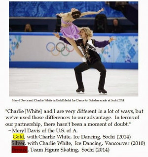 Meryl Davis on icedancing Partnership with CharlieaWhite ending in