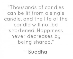 candles can be lit from a single candle , and the life of the candle ...