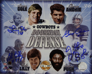 Larry Cole, George Andrie, Bob Lilly, Jethro Pugh Signed 8x10