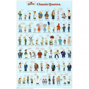 The Simpsons (Classic Quotes) TV Poster Print - 24x36