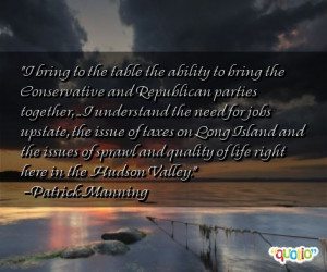 bring to the table the ability to bring the conservative and ...