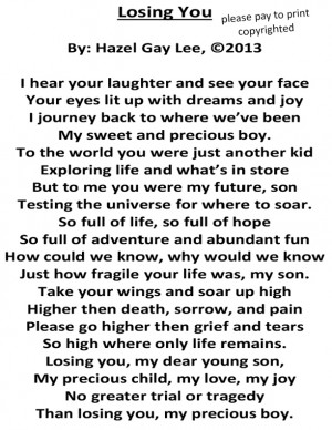 Losing You – Poem About Grieving My Son