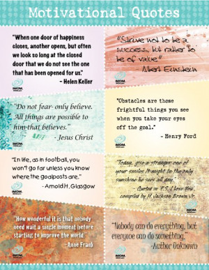 16 Inspirational Quotes. Words can inspire children to achieve. Cut ...